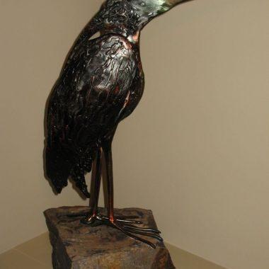 Bird Sculpture Green Heron